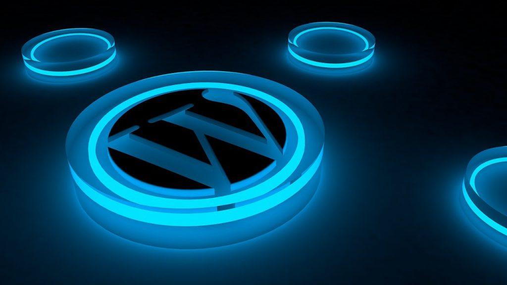 wordpress, logo, glow